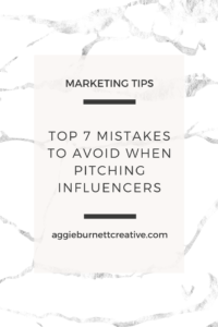 the top 7 mistakes to avoid when pitching influencers
