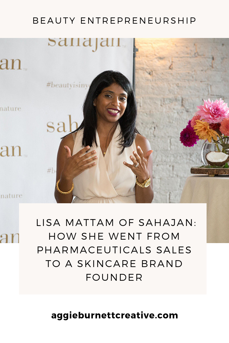 Lisa Mattam leaves pharmaceutical sales 9-to-5 job to start skincare brand, Sahajan