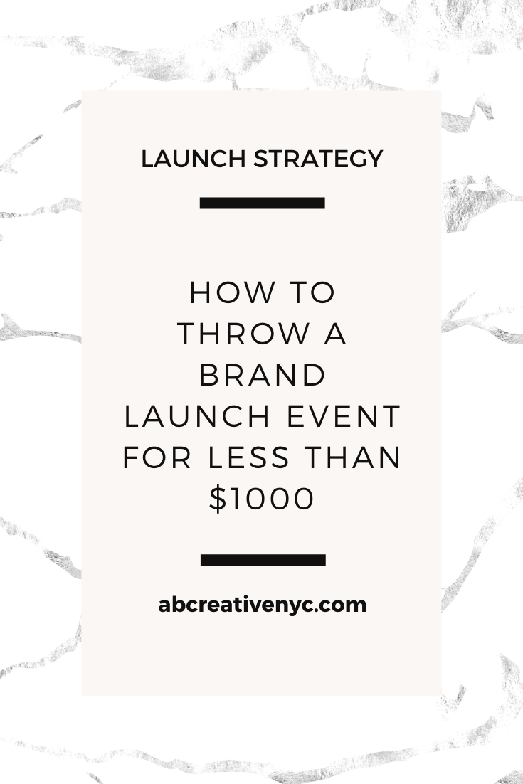 how to throw a brand launch event