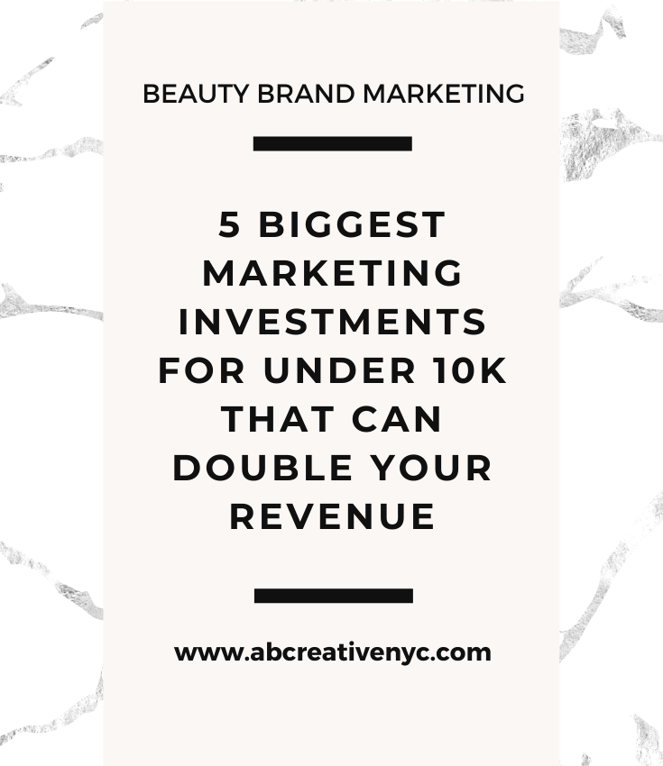 5 biggest marketing investments to double your revenue